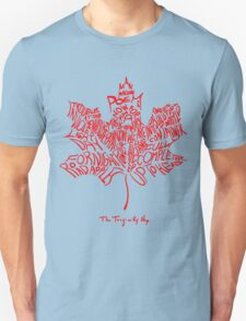 THE TRAGICALLY HIP - tour 2016 typography red edition Unisex T-Shirt