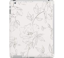 Peony seamless pattern for textile fabric iPad Case/Skin