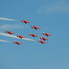 RAF Red Arrows by Carol Bleasdale