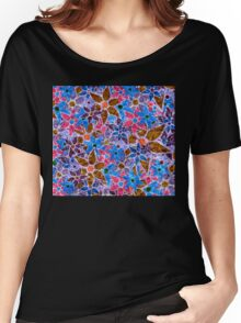 Trendy Floral Pattern Vintage Women's Relaxed Fit T-Shirt