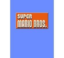Super mario bros snes Photographic Print