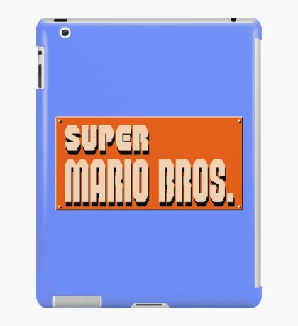 Super mario bros snes iPad Case/Skin