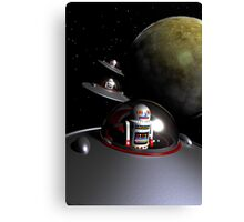 ROBOT - 7 Saucers Canvas Print