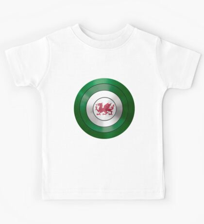 CAPTAIN WALES - Captain America inspired Welsh shield Kids Tee