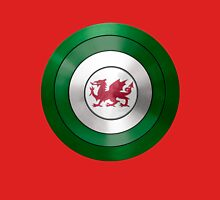 CAPTAIN WALES - Captain America inspired Welsh shield Unisex T-Shirt