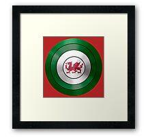 CAPTAIN WALES - Captain America inspired Welsh shield Framed Print