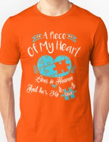 A Piece of my heart lives in heaven and he is my dad Unisex T-Shirt
