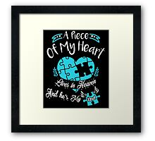 A Piece of my heart lives in heaven and he is my dad Framed Print