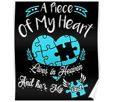 A Piece of my heart lives in heaven and he is my dad Poster