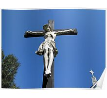 Statue of Jesus On The Cross Poster