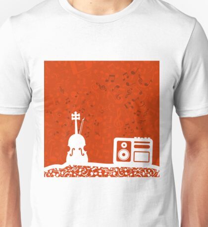 Violin and the tape recorder Unisex T-Shirt