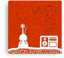 Violin and the tape recorder Canvas Print