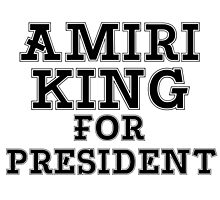 AMIRI KING FOR PRESIDENT Photographic Print