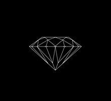 Diamond Supply Co Accessories White on Black by diamondsupplyco