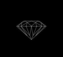 Diamond Supply Co Accessories White on Black by Waleed B