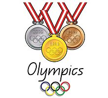 Olympics Medals Photographic Print