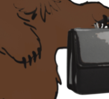 Go into business with a grizzly bear Sticker