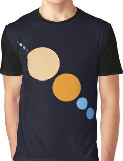 Planets To Scale (diagonal) Graphic T-Shirt