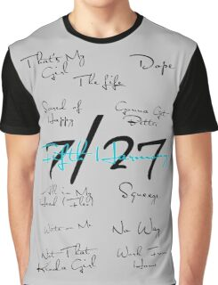 Fifth Harmony Song Titles Design  Graphic T-Shirt