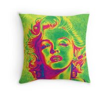Marilyn Monroe Psychedelic Mode Throw Pillow