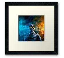 Between a Rock and a Hard Space Framed Print