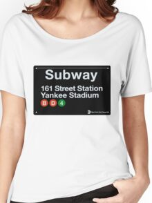 Yankees Subway Sign Women's Relaxed Fit T-Shirt