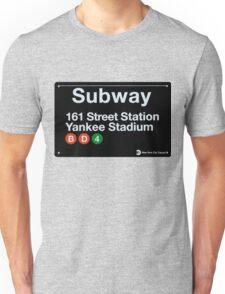 Yankees Subway Sign Unisex T-Shirt