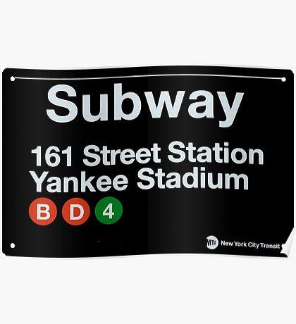 Yankees Subway Sign Poster