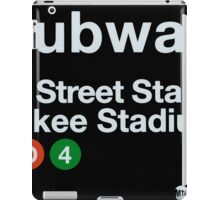 Yankees Subway Sign iPad Case/Skin