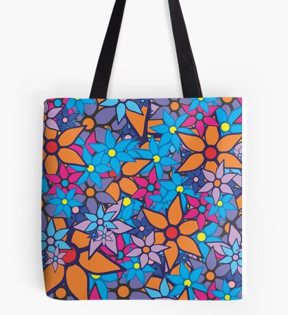 Retro Trendy Floral Pattern Tote Bag