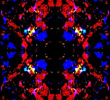 Red Blue Tribal by Phi Nilez