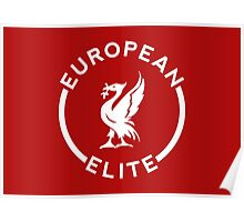 European Elite - Liverpool FC - White Poster