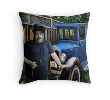 A SURPRISE BIRTHDAY GIFT I MADE FOR MY BROTHER LEO..of his..1926 Ford Chevy Model T Coupe Throw Pillow Throw Pillow