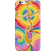 Rainbow Spiral Cross iPhone Case/Skin