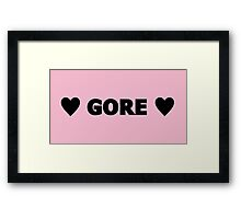 Gore 5 Framed Print