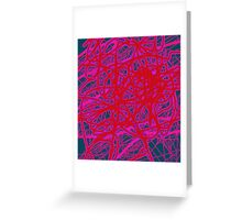 Red neon Greeting Card