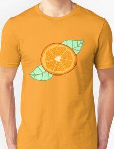 Orange Slice With Leaves Unisex T-Shirt