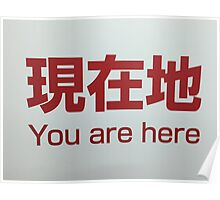 You Are Here - Tokyo Metro Sign Poster