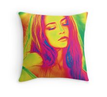 Psychedelic Girl Throw Pillow