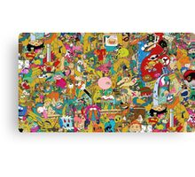 Collection of cartoons  Canvas Print
