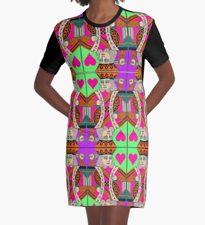 KING OF HEARTS Graphic T-Shirt Dress