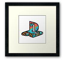 Playstation Retro Logo Framed Print