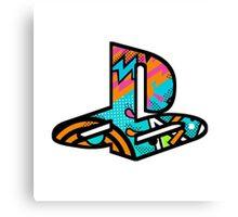 Playstation Retro Logo Canvas Print