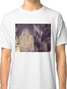 Close-up shot of Asian elephant head Classic T-Shirt