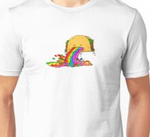 Taco puking a rainbow Unisex T-Shirt