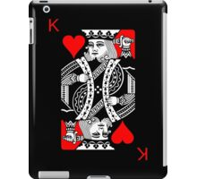 KING OF HEARTS (RED AND BLACK) iPad Case/Skin
