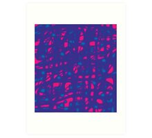 Blue and pink neon Art Print