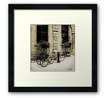 Tandem Bicycle and Flowers Framed Print