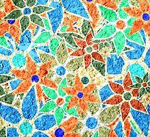 Trendy Floral Pattern Vintage by Nhan Ngo
