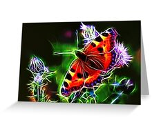 Electric Peacock Butterfly Greeting Card